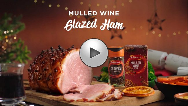 Mulled Wine Glazed Ham