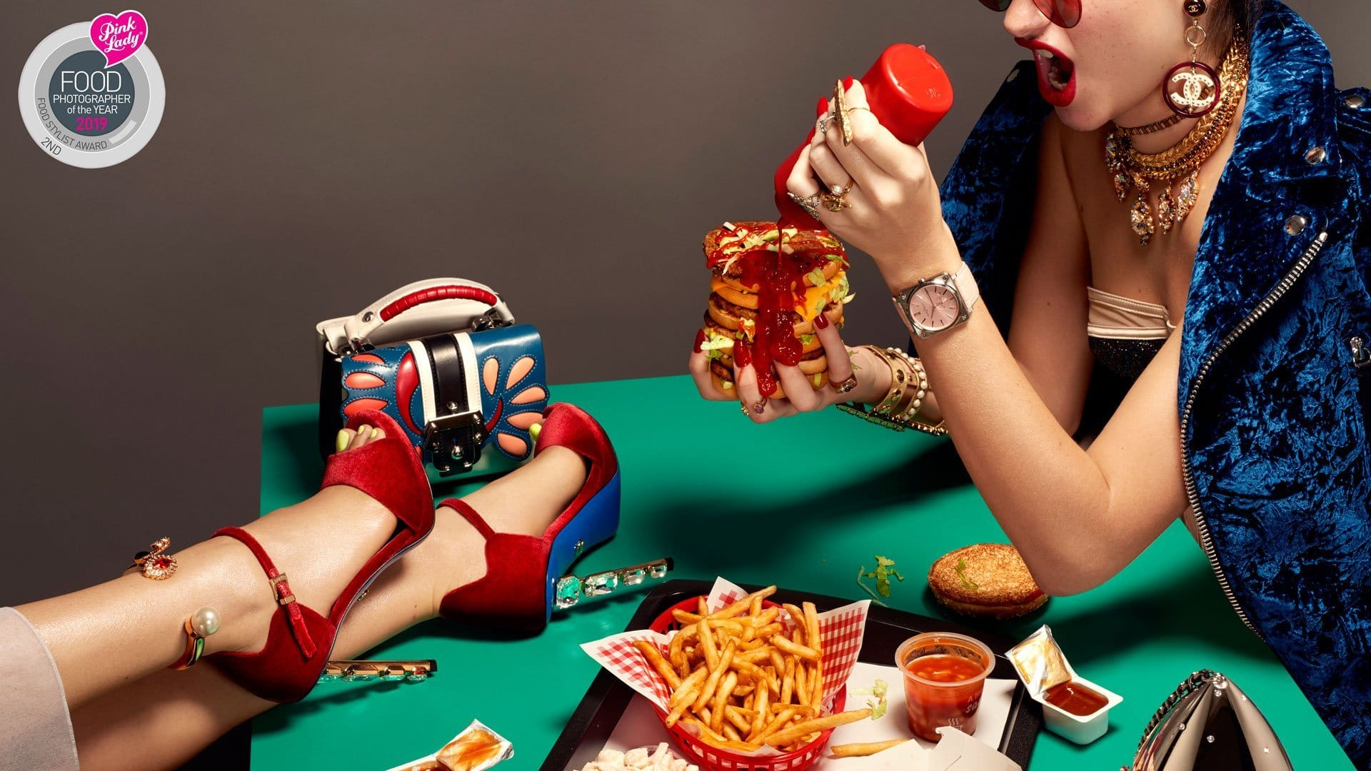 Burger, Chips, Nuggets and Heels - Pink Lady 2nd Position