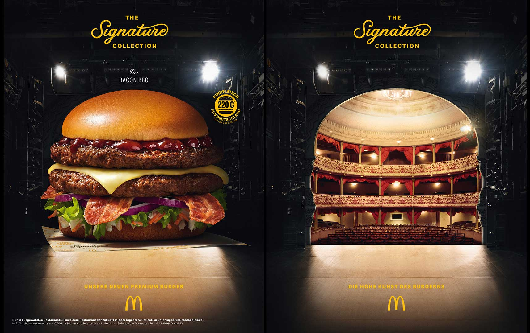 The Theatre Burger by McDonalds Signature Collection