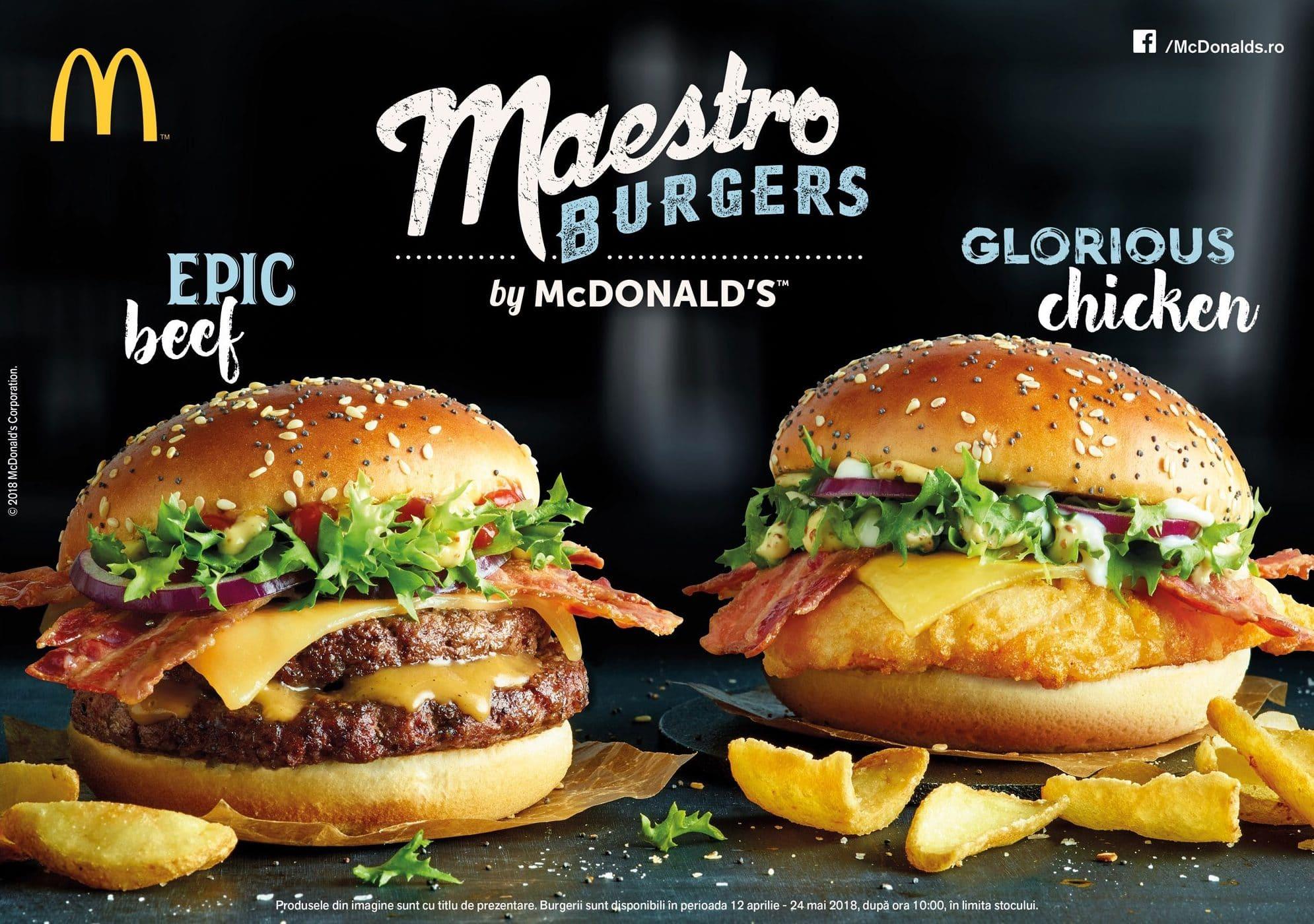 McDonalds Maestro Burgers