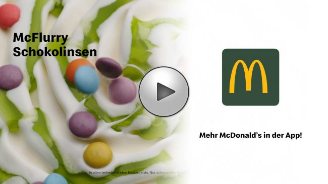 Udo Reichelt-Schaurer is Food Stylist for McDonalds - McFlurry-Schokolinsen (2019)