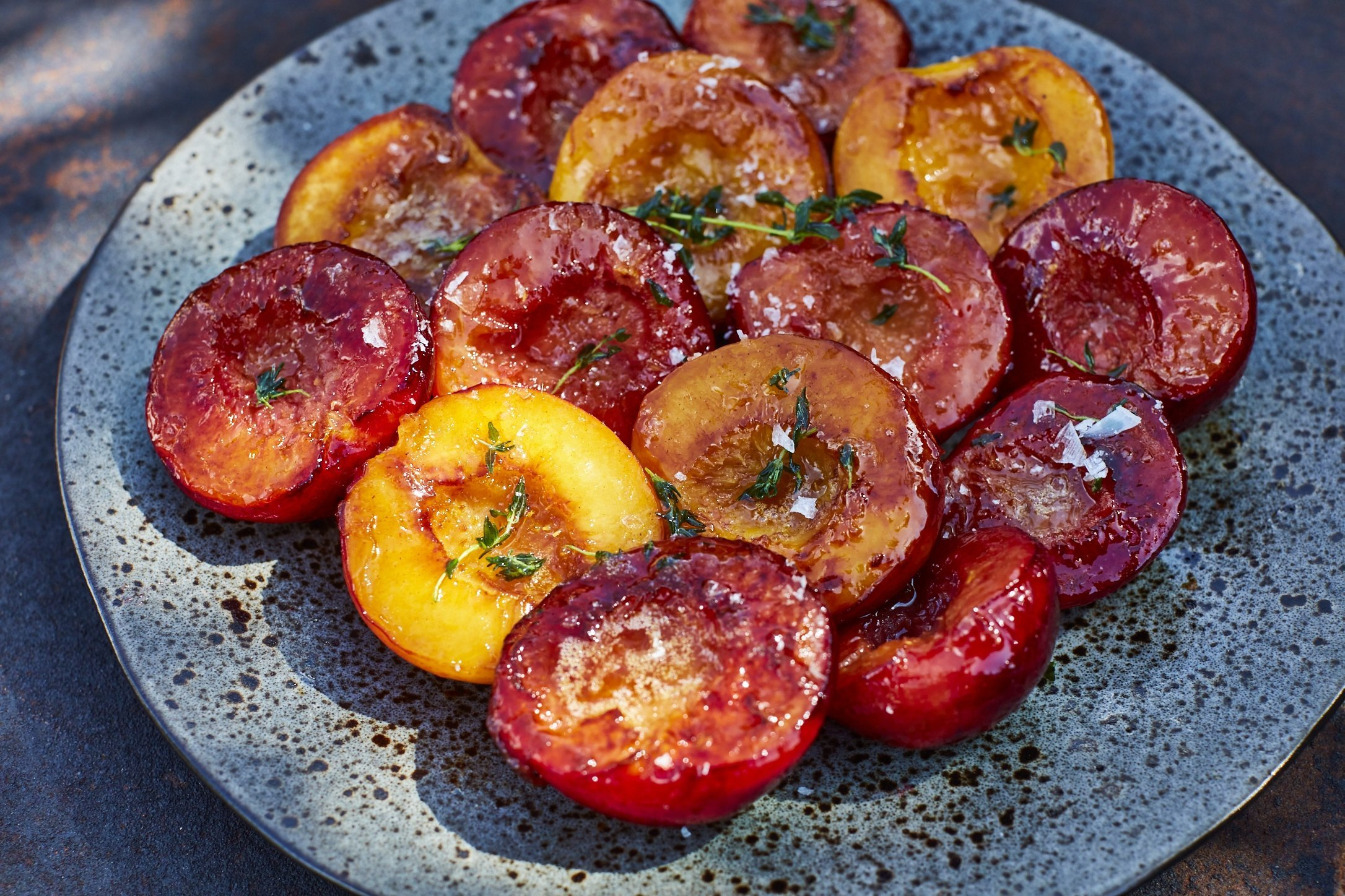 Glazed Apricots and Fresh Thyme by Maldon Salt & Udo Reichelt-Schaurer