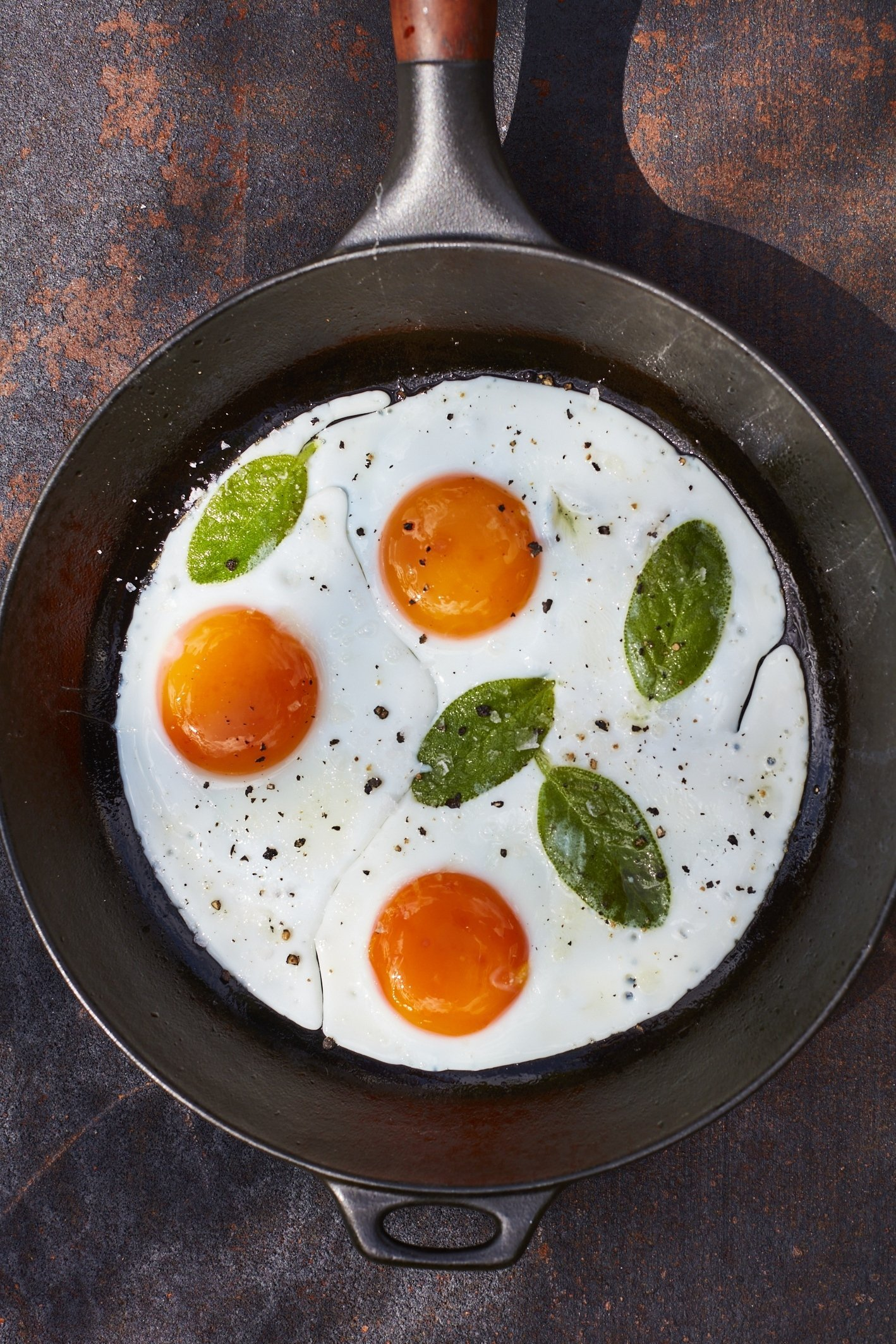 Fried Eggs and Basil by Maldon Salt & Udo Reichelt-Schaurer